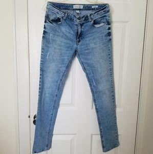 Kenneth Cole Reaction skinny jean distress bleach